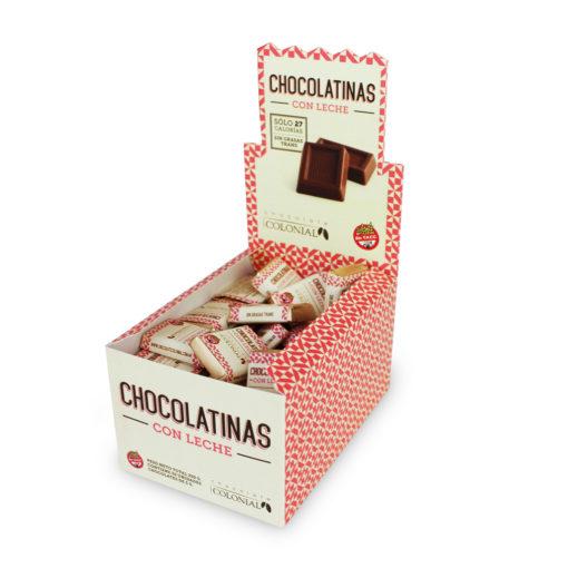 Estuche chocolatinas con leche, Infantil, 50 unidades, Chocolate Colonial