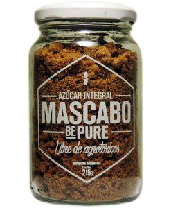 Azucar integral Mascabo Bepure en frasco de 215 gr. 12 Unidades