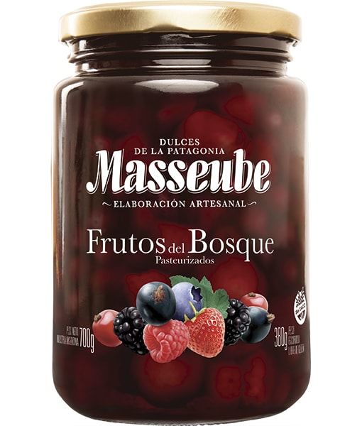 Frutos del Bosque Masseube en almíbar 12 Unidades de 700gr.