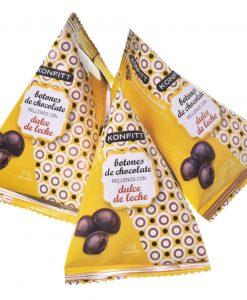 Konfitt botón de Chocolate relleno de dulce de leche, 15 unidades 30gr.