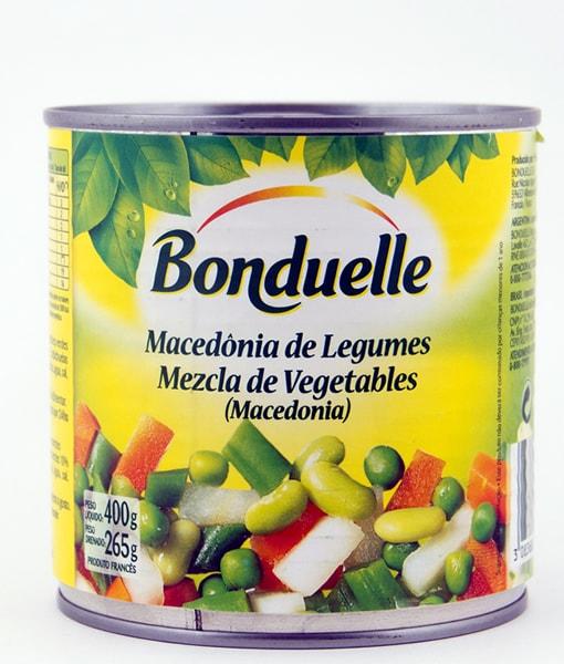 Macedonia de Legumbres (ensalada rusa) origen Francia