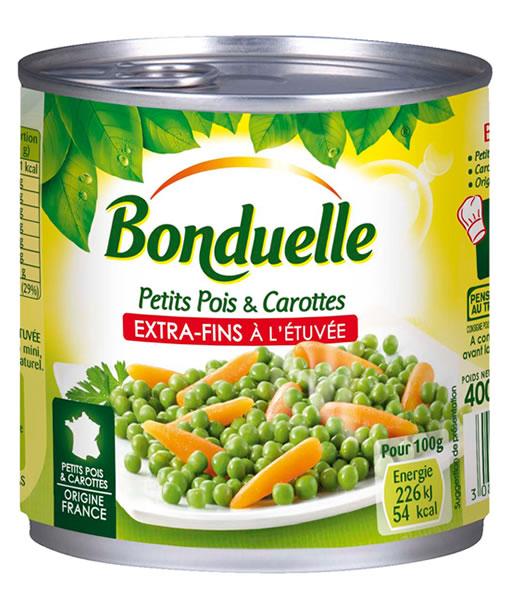 Arvejas muy finas y Zanahorias Baby (origen Francia)