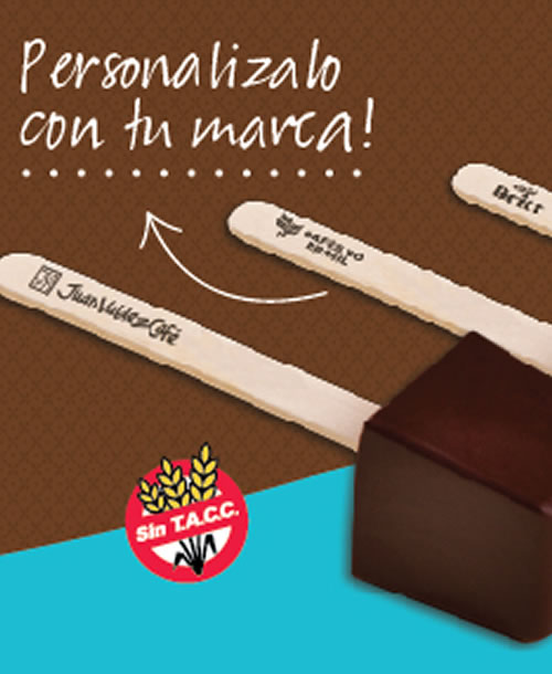 Choco Stick chocolate en palito para bebidas personalizados
