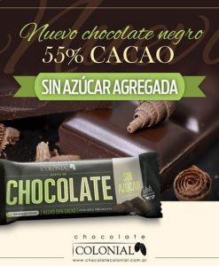 Chocolate Colonial 55 Cacao Sin Az Agregada
