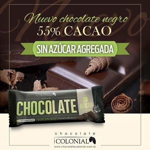 Chocolate Colonial 55 Cacao Sin Az Agregada