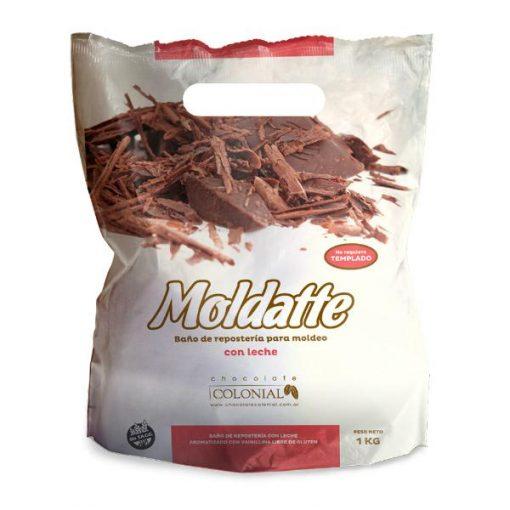 Moldatte baño de moldeo Chocolate con Leche sin Tacc