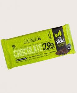 Chocolate 70% cacao con Stevia