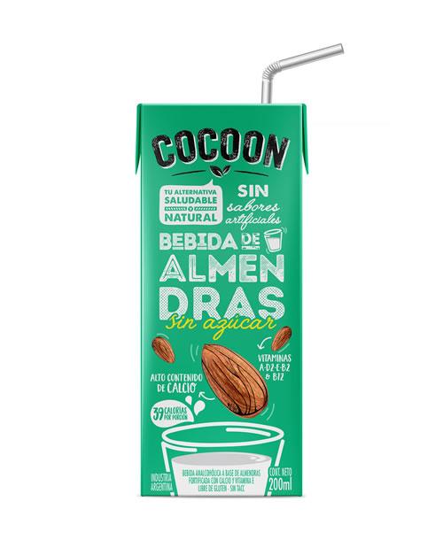 Leche Almendras sin azucar Cocoon 18x200ml.