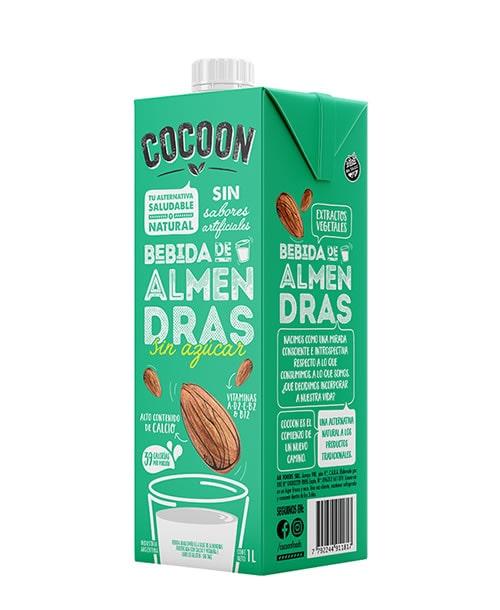 Leche Almendras sin azucar Cocoon 12x1lt.