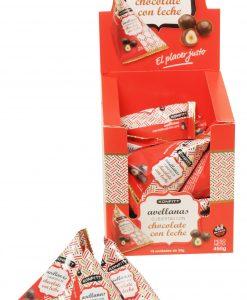 Konfitt avellanas bañadas en Chocolate con leche, 15 unidades de30gr c/u