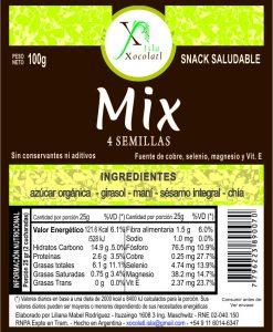 Mix 4 semillas 100 gr con azucar organica sin conservantes ni aditivos