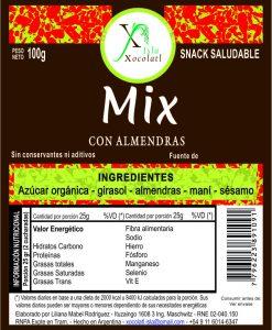 Mix con almendras caramelizadas 100 gr con azucar organica sin conservantes ni aditivos