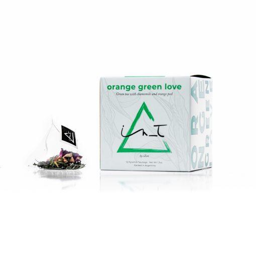 Orange Green Love 12 Piramides de te Hebra Premium by iZen Inti Zen