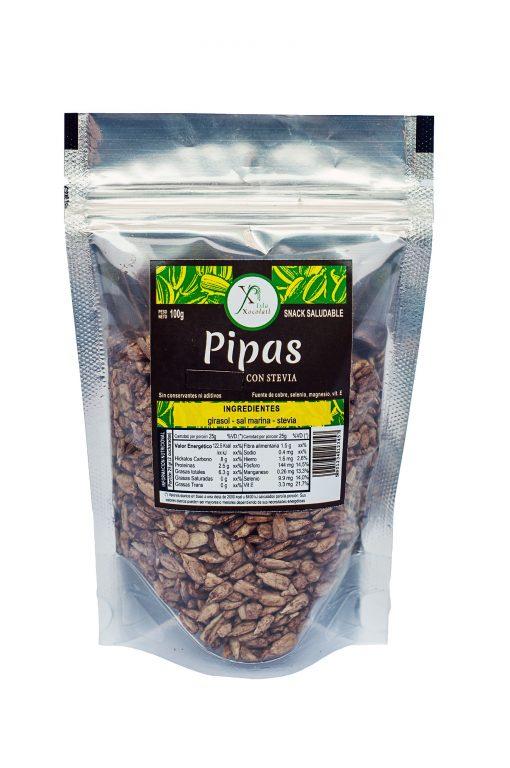 Pipas con stevia x 100 gr con azucar organica sin conservantes ni aditivos