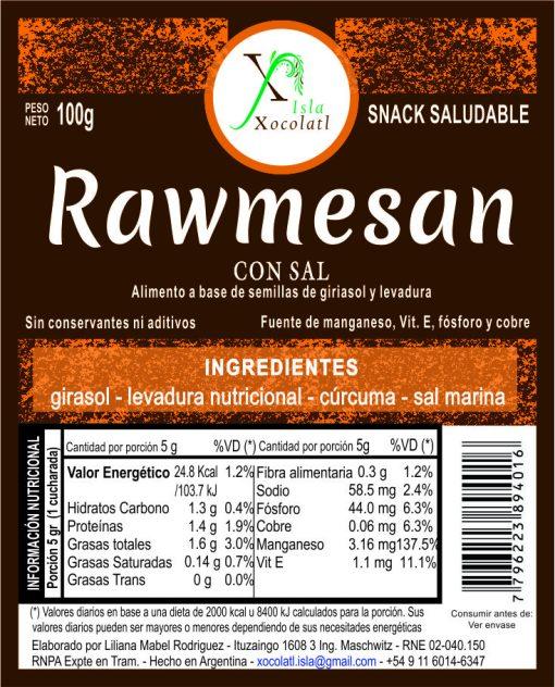 Rawmesna con sal con azucar organica sin conservantes ni aditivos