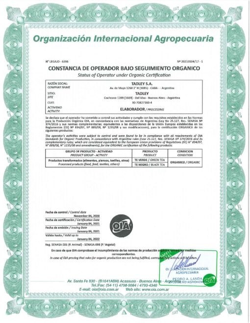 certificado Organico scaled